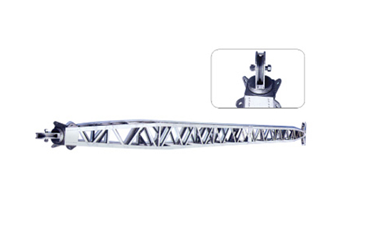 Aluminum alloy inner-suspended tubular gin pole